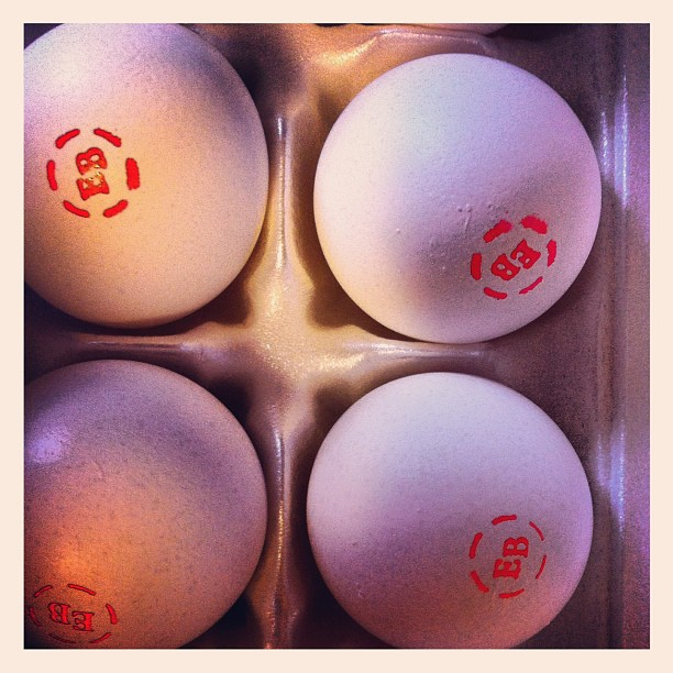 Eggs come with tattoos! (Taken with Instagram at Aspen Hill MD)