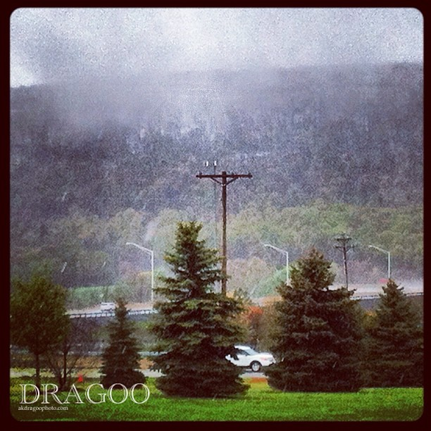 That id be snow in dem der hills (Taken with  Instagram  at Sideling Hill Service Plaza)