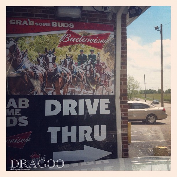 Drive thru beer an booze. You can get singles (Taken with instagram)