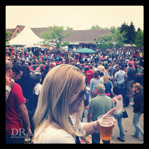 Crowds at Goat Racing #Slyfoxgoatracing2012 (Taken with  instagram )