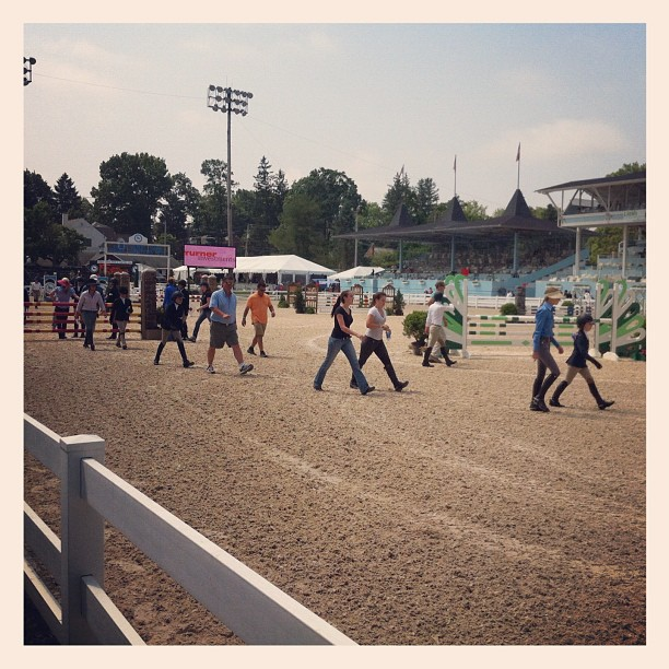 Pony Jumpers course walk (Taken with  Instagram  at Devon Horse Show)