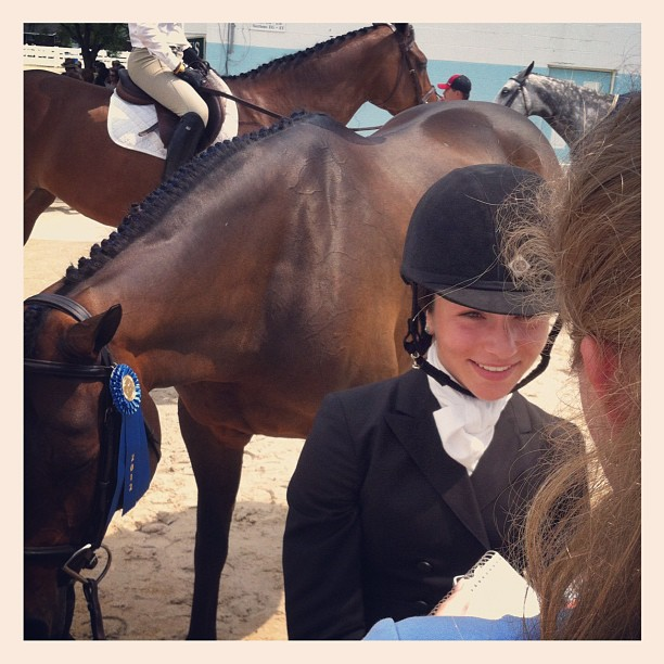 Interview with #Chronofhorse @ #devonhorseshow (Taken with Instagram at Devon Horse Show)