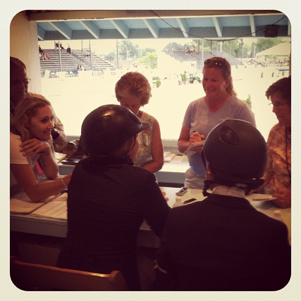 The grilling that is the press room (Taken with  Instagram  at Devon Horse Show)