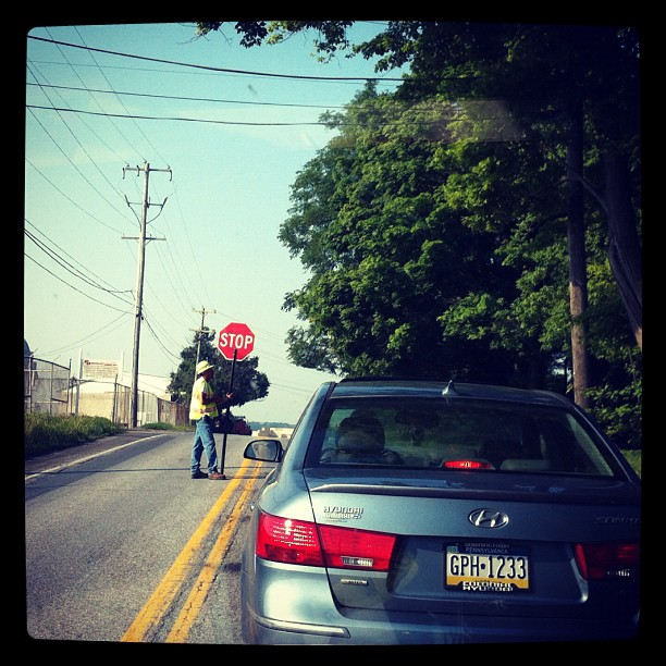 1/4 mile back this dude passed me on a double yellow line. How'd that work for ya moron?!? (Taken with  Instagram  at Cochranville, PA)