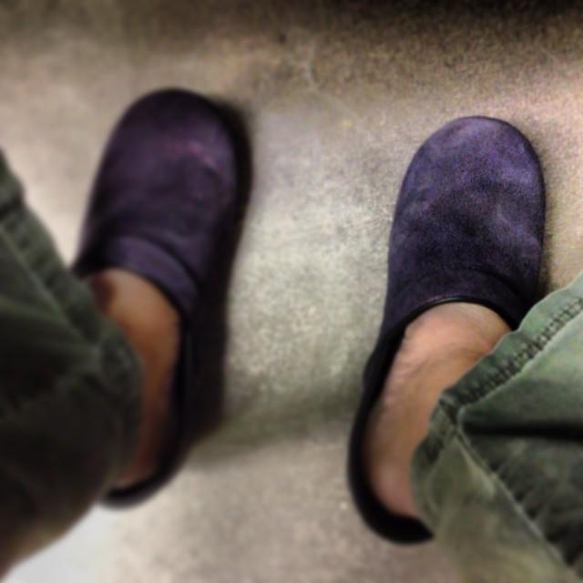 Selfie. #purplesuedeshoes