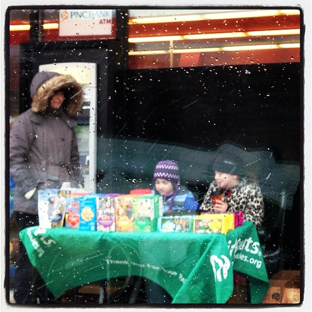 I always but from kids with a lemon aide stand. Or #girlscout cookies. Esp. when they are selling in the snow.