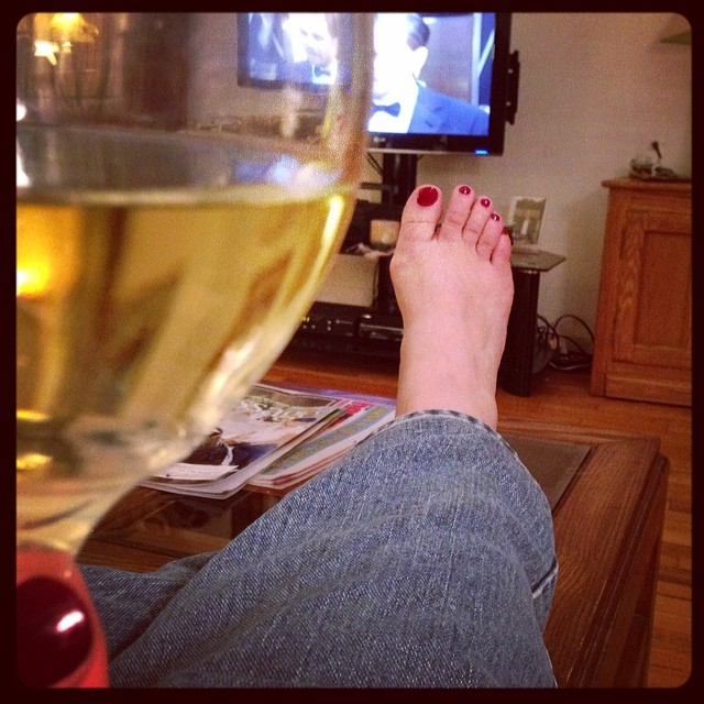 #Oscar watching. No heels, no dress, no carpet.