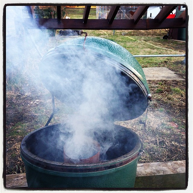 Spring has sprungeth. #biggreenegg #meat #realwomenusecoals