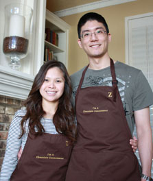 John and Margarita Ok   John is an anesthesiologist who loves the science behind working with chocolate. He enjoys making chocolate mousse for his wife. Margarita's favorite class was the chocolate tasting. She particularly enjoys Scharffen Berger 70%.