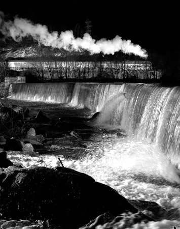NW883 Gooseneck Dam and No. 2, Maury River, Buena Vista, VA, 1956  20 x 16 inches silver print