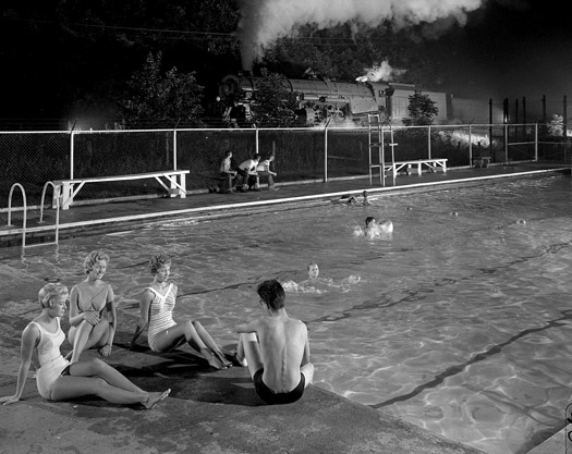 NW1963 Swimming Pool by the Tracks, Welch, WV, 1958  16 x 20 inches silver print