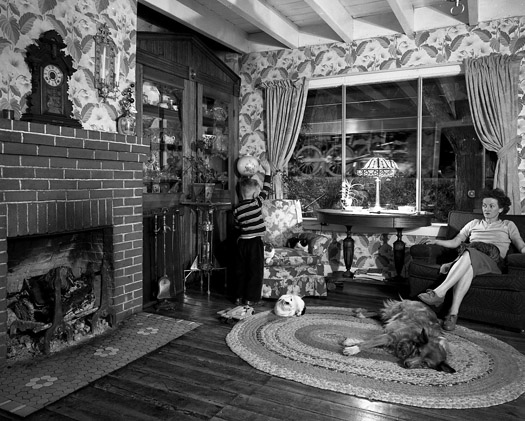NW720 Living Room on the Tracks, Lithia, VA, 1955  16 x 20 inches silver print