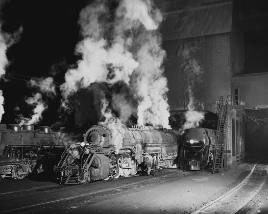 NW691 Coaling Locomotives, Shaffers Crossing, Roanoke, VA, 1955  16 x 20 inches silver print