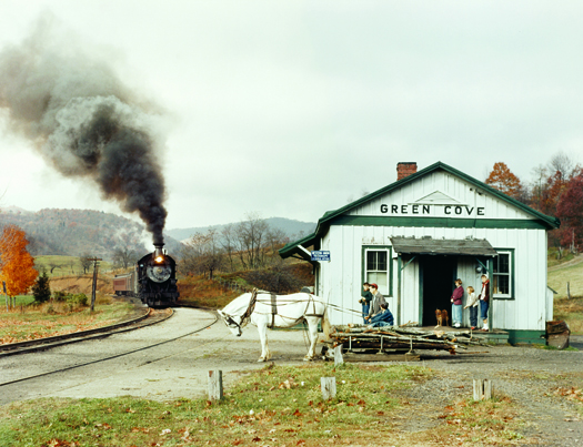 NW39K Maud Bows to the Virginia Creeper, Green Cove, VA, 1956  16 x 20 inches chromogenic dye coupler print