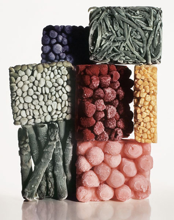 Irving Penn Frozen Foods, 1977  23.125 x 14.125 inches dye transfer print