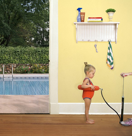 Julie Blackmon Floatie, 2006  24 x 24 inches archival pigment print