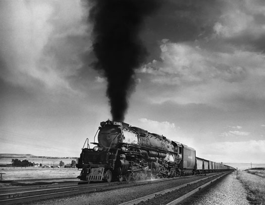"UPRR No.3986 ""Challenger"" Rock River, WY, July, 1952  11 x 14 inches vintage silver print"