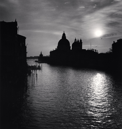 Grand Canal Sunset, Venice, Italy, 1987  8 x 7.5 inches edition of 45 toned silver print
