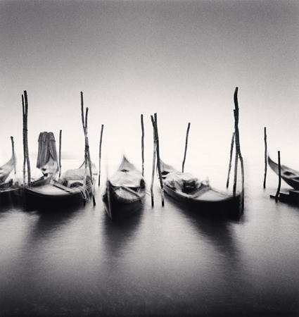 Six Gondolas, Giadini ex Reali, Venice, Italy, 1980  8 x 7.5 inches edition of 45 toned silver print