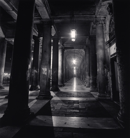 Colonnade, Piazza San Marco, Venice, Italy, 1980  8 x 7.5 inches edition of 45 toned silver print