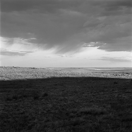 Storm, Colorado Piedmont, 2006 Negative #W18_11_06 from the series  West and West   24 x 24 inches edition of 5 carbon pigment print