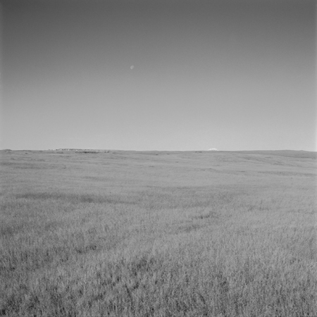 Moon and Butte, High Plains, 2005 Negative #W54_15_05 from the series  West and West   24 x 24 inches edition of 5 carbon pigment print