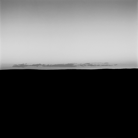 Horizon and Night Sky, High Plains, 2005 Negative #W17_14_05 from the series  West and West   24 x 24 inches edition of 5 carbon pigment print