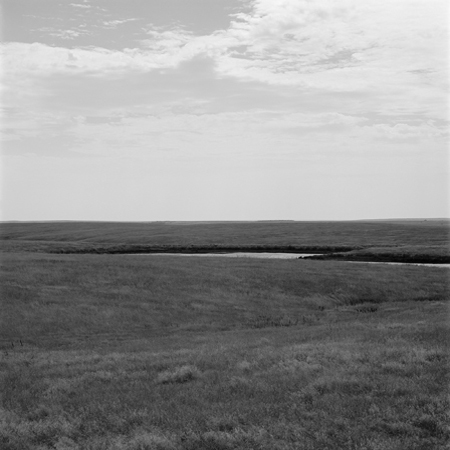 Creek, Missouri Plateau, 2005 Negative #W12_3_05 from the series  West and West   24 x 24 inches edition of 5 carbon pigment print