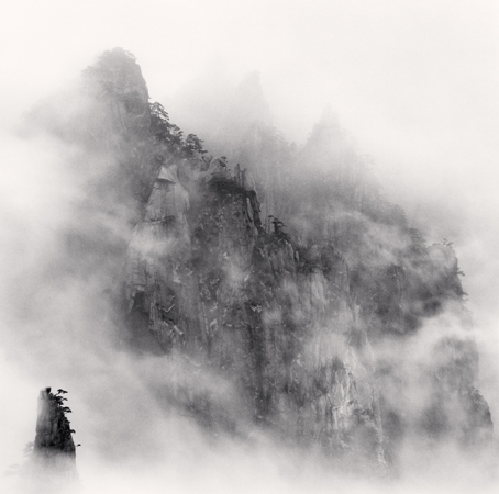 Michael Kenna Huangshan Mountains, Study 1, Anhui, 2008  7.75 x 7.75 inches edition of 45 toned silver print