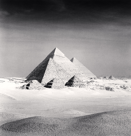 Michael Kenna Giza Pyramids, Study 6, Cairo, 2009  7.75 x 7.25 inches edition of 45 toned silver print
