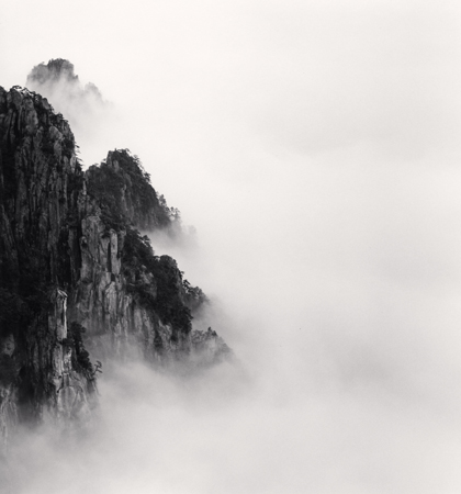 Michael Kenna Huangshan Mountains, Study 6, Anhui, 2008  8.25 x 7.75 inches edition of 45 toned silver print