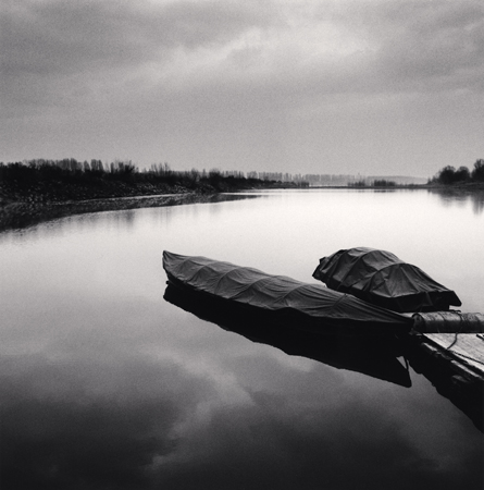 Michael Kenna Moored Boats, Guastala, Emilia Romagna, Italy, 2006  7.75 x 7.75 inches edition of 45 toned silver print