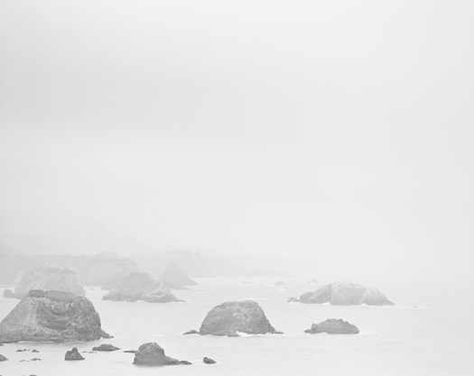 Chip Hooper Mendocino County Coast, Pacific Ocean, 2009  20 x 24 inches edition of 25 silver print