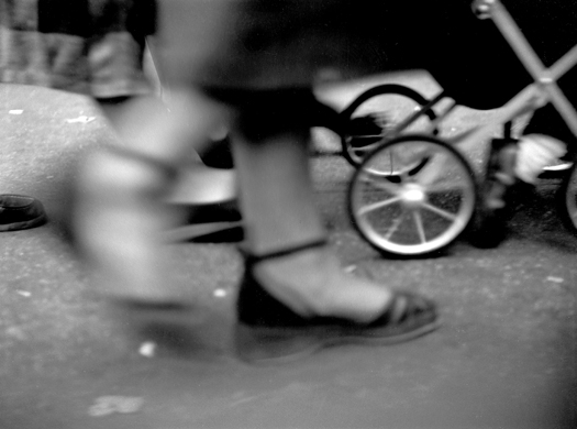 Feet & Baby Carriage, 14th Street, NYC, 1949  8.75 x 11.5 inches silver print