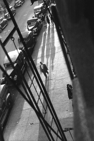 West 22nd Street from Eva Konikoff's Window, 1949  11.25 x 7.625 inches silver print