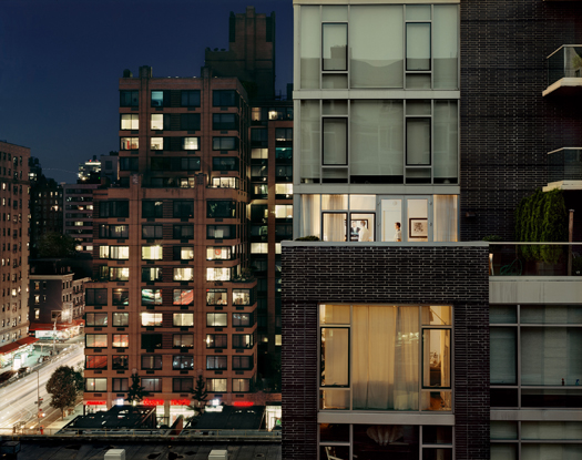 Out My Window, Chelsea, Glass House at Night, 2008 40 x 50 inches edition of 5 archival pigment print also available in the following size: 20 x 24 inches edition of 10
