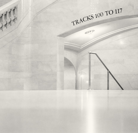 Michael Kenna Tracks 100 to 117, Grand Central Station, New York, 2000 7.5 x 7.5 inches toned silver print edition of 45