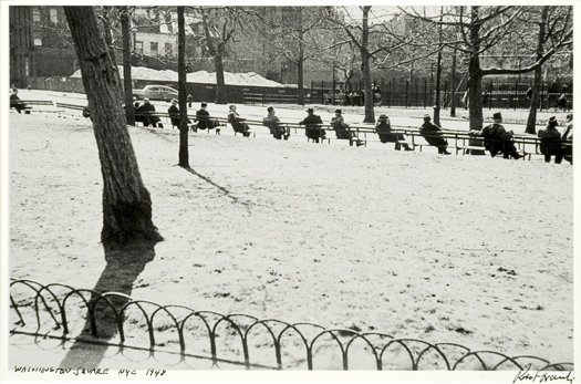 Washington Square, NYC, 1948 11 x 14 inches silver print