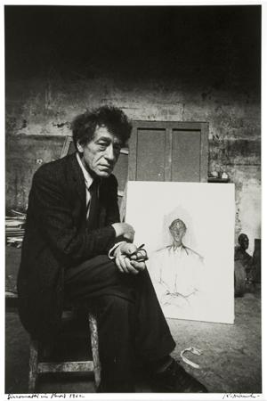 Giacometti in Paris, 1962 14 x 11 inches silver print
