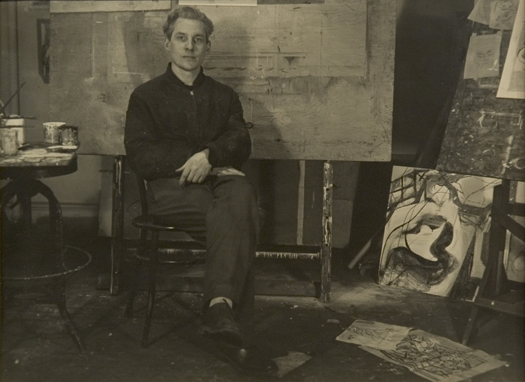 Walter Auerbach Willem de Kooning, New York, 1947 7.25 x 9.5 inches vintage silver print