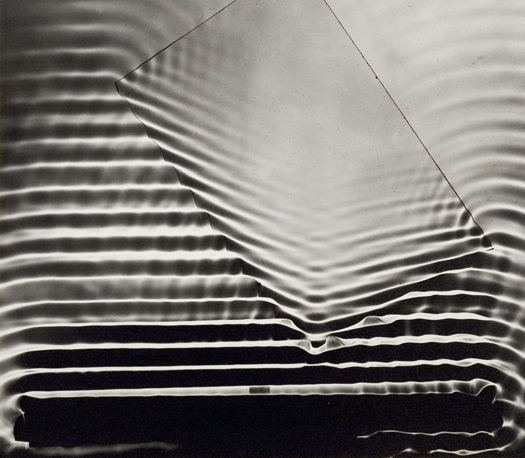 Berenice Abbott Wave Pattern with Glass Plate, Cambridge, MA, c. 1958 15 x 17 inches silver print