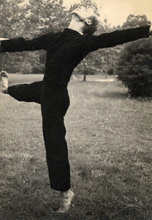 Hazel Larsen Archer Merce Cunningham, c. 1948 9.63 x 6.63 inches vintage silver print mounted to board