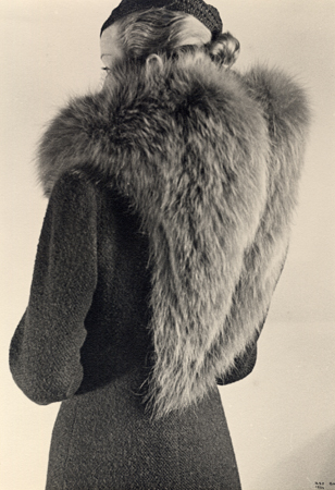 Ilse Bing Fur From the Back, Modele, Schiaparelli, 1934 11 x 7.5 inches vintage silver print