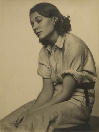 Trude Fleischmann Portrait of Inge Schon, 1933 15.5 x 11.5 inches vintage silver print