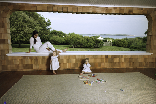 Gail Albert Halaban Untitled (framed porch), 2006 From the series  This Stage of Motherhood  40 x 54 inches edition of 5 archival pigment print