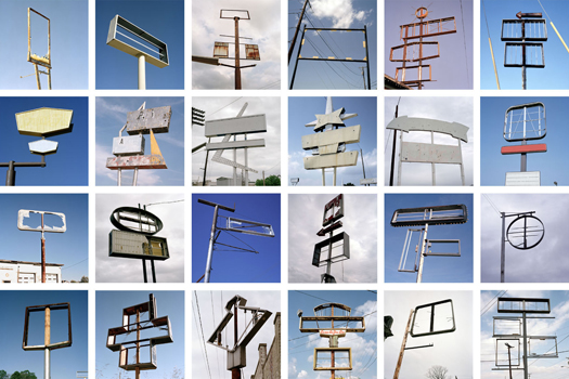 Jeff Brouws Signs without Signification Portfolio, 2003-2007 7 x 7 inches edition of 9 24 archival pigment prints
