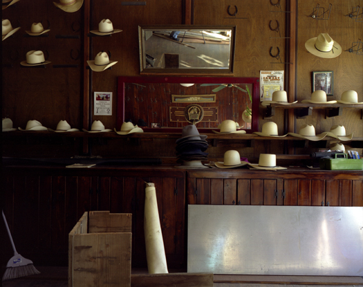 Johnny Bingo's Hats, Ellsworth, Kansas, 2007 36 x 43 inches 48 x 57 inches edition of 10 chromogenic dye coupler print