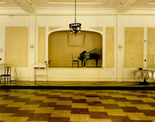 Adler Hotel with Piano, Sharon Springs, 2005 36 x 43 inches 48 x 57 inches edition of 10 chromogenic dye coupler print