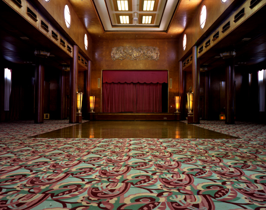 Queen Mary, Ballroom, 2007 36 x 43 inches 48 x 57 inches edition of 10 chromogenic dye coupler print