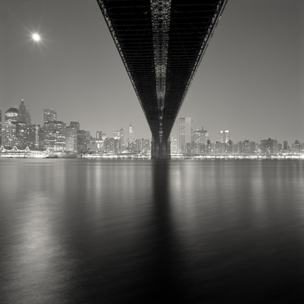 Brooklyn Bridge, Study 2, New York, 2006 7.75 x 7.75 inches edition of 45 toned silver print
